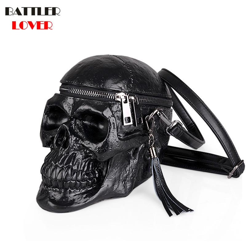 3D Skull Bag Womens Handbags Crossbody Bags Girls Shoulder Messenger Bag Femme Mujer Handbag for Women