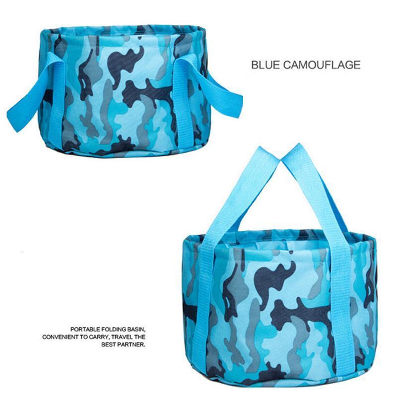 15L Portable Outdoor Foldable Folding Camping Fishing Washbasin Basin Bucket Washing Bag Hiking Water Pot