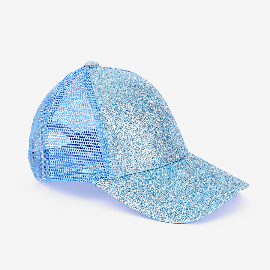 Kids Glitter Ponytail Baseball Caps Washed Cotton Messy Buns Hats Trucker Pony Cap Visor Cap Hat Outdoor Snapbacks Caps Party Hats RRA3762