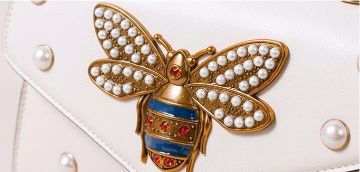 2020 Women Color Splicing Little Bee handbag Fashion Magneti designer luxury handbags purses Casual Shoulder Messenger Bag cross body bag