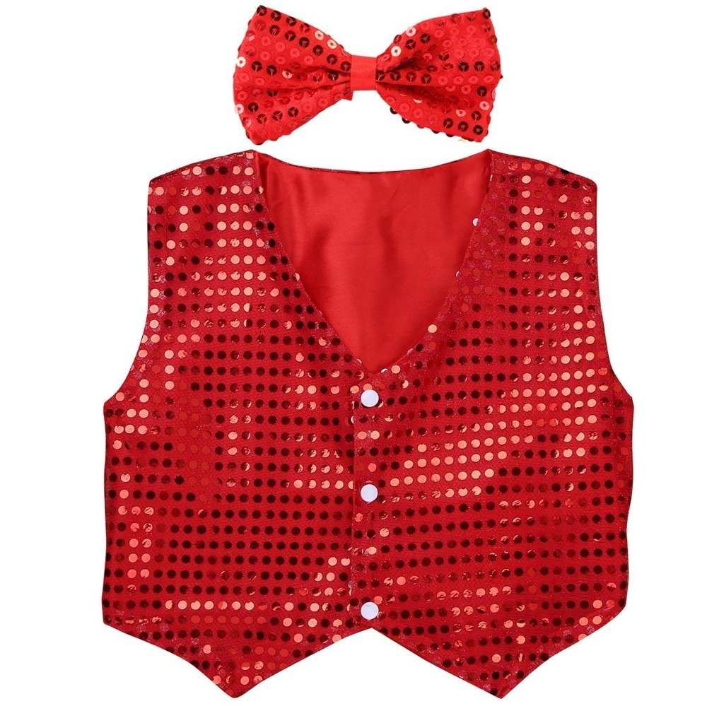 red sequins vest (1)