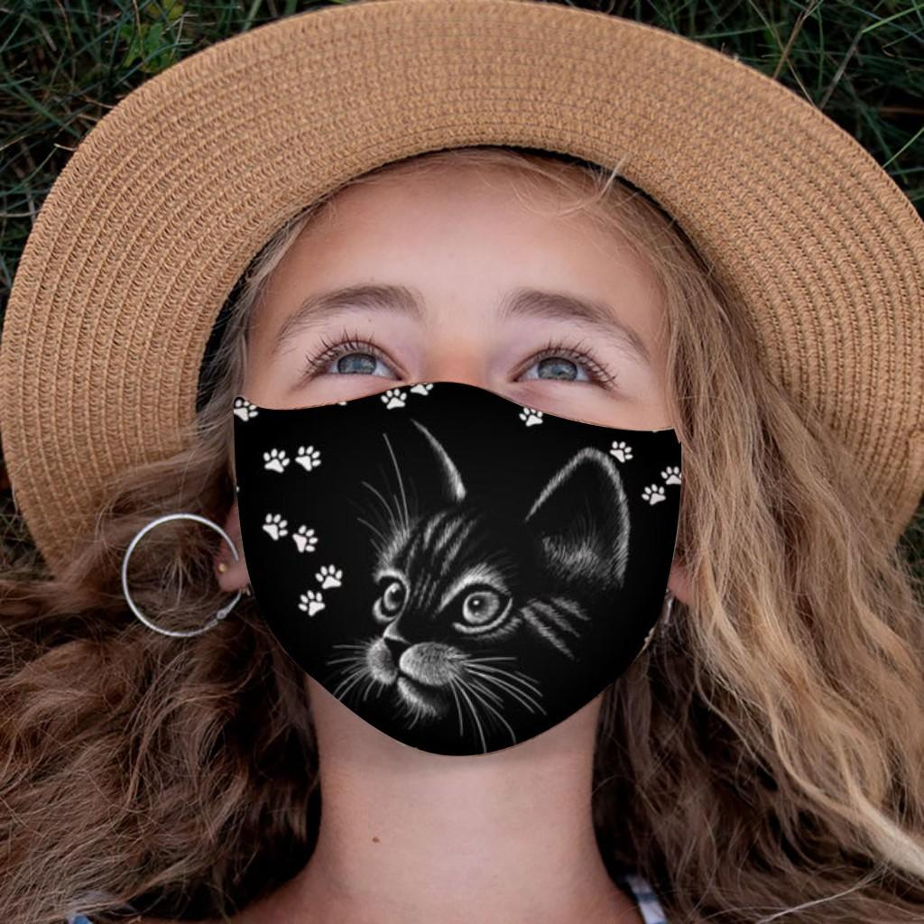 Child Mask For Face Girls Cute Cat Mask Outdoor Dustproof Sand Exhaust Sunscreen Adjustable Bandage Breathable Cycling Mask sqcBaS