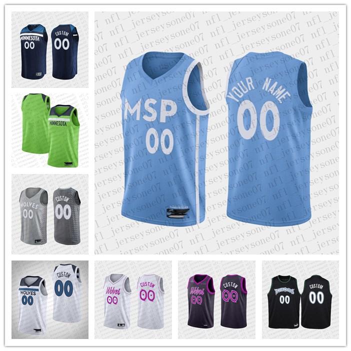 2020 Custom Men's womens youth minnesotaTimberwolves white black Throwback Basketball cityJersey