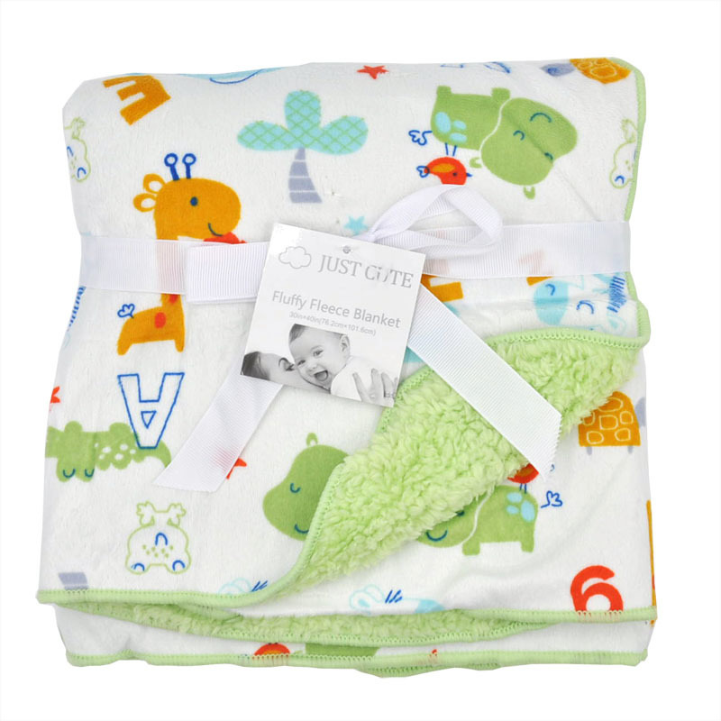 Cute Cartoon Newborn Baby Blanket Coral Fleece Baby Swaddle Super Soft Baby Wrap for Infant Baby Bedding Blanket Size 102cm76cm (4)