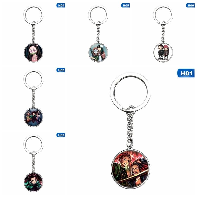 Japanese Anime Demon Slayer: Cosplay Anime Pendant Gifts Kimetsu No Yaiba Transparent Double-sided Acrylic Keychain