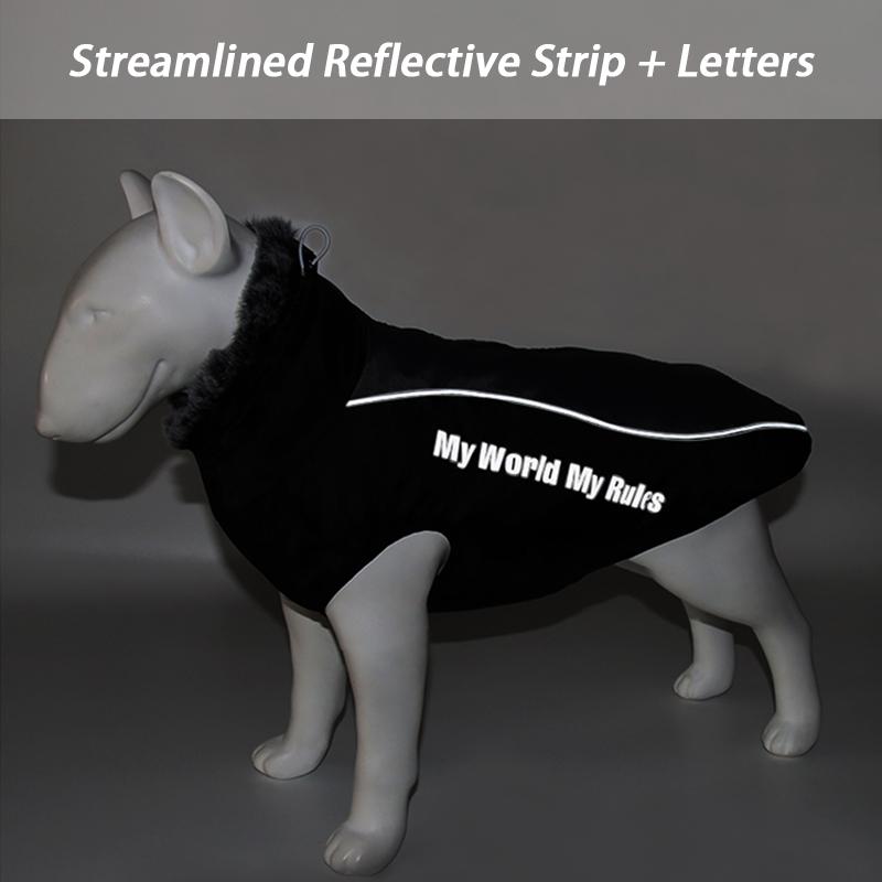 Waterproof Large Dog Clothes Winter Dog Coat With Harness Furry Collar Warm Pet Clothing Big Dog Jacket Labrador Bulldog Costume 9