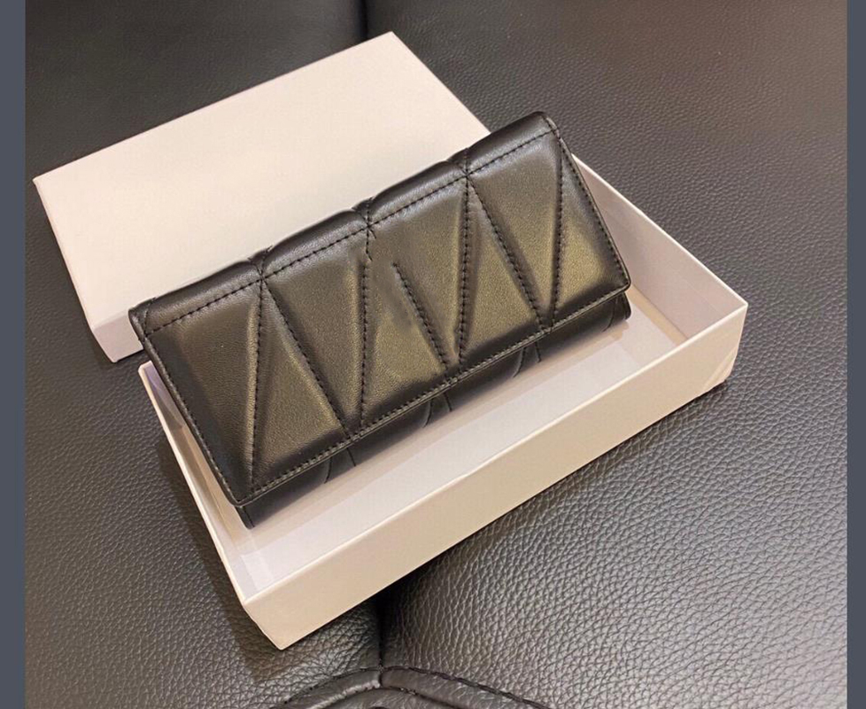 High Quality women wallet long purse leather wallet fashion and nice style tread shape ZZL2102021