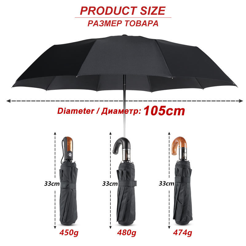 Classic-English-style-Umbrella-Men-Automatic-10Ribs-Strong-WindResistant-3-Folding-Umbrella-Rain-Business-Male-Quality