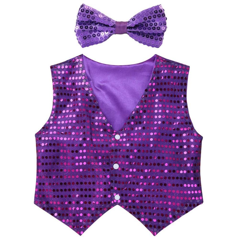 purple sequins vest (1)