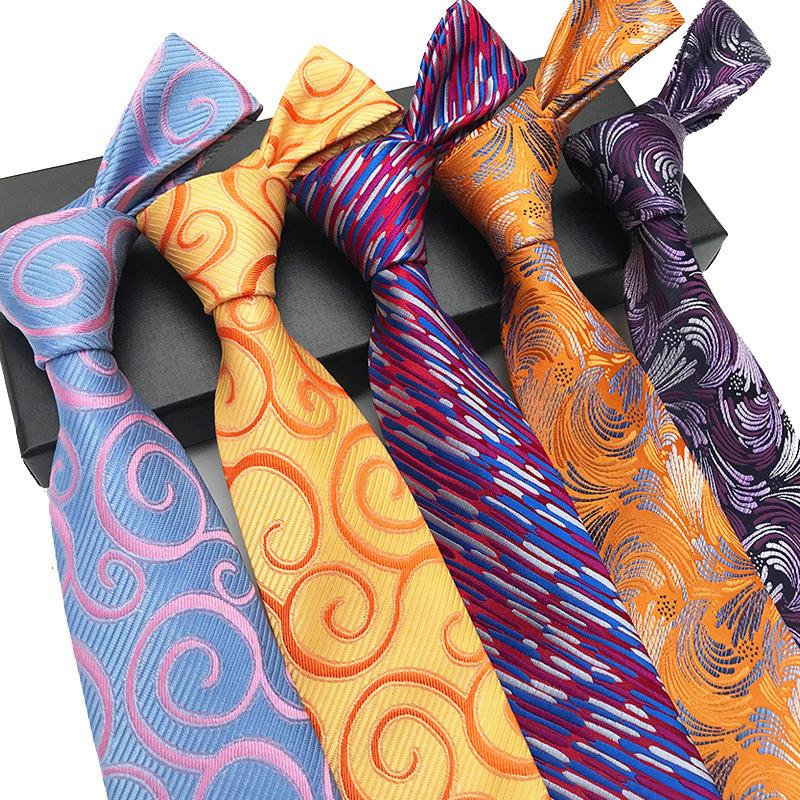 2021 Polyester Jacquard Tie men