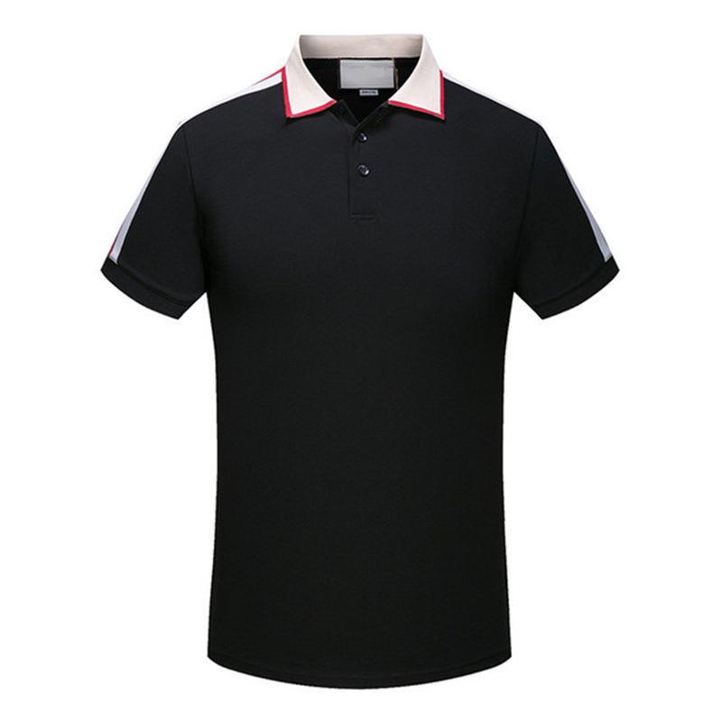 2020 New Design Polo Shirts Men Polo Casual Men Polo T Shirt Snake Bee Letter Print Embroidery Fashion High Street Desig t-shirt