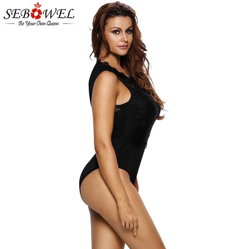 Black-Lace-High-Neck-Cut-Out-Back-Bodysuit-LC32050-2-8