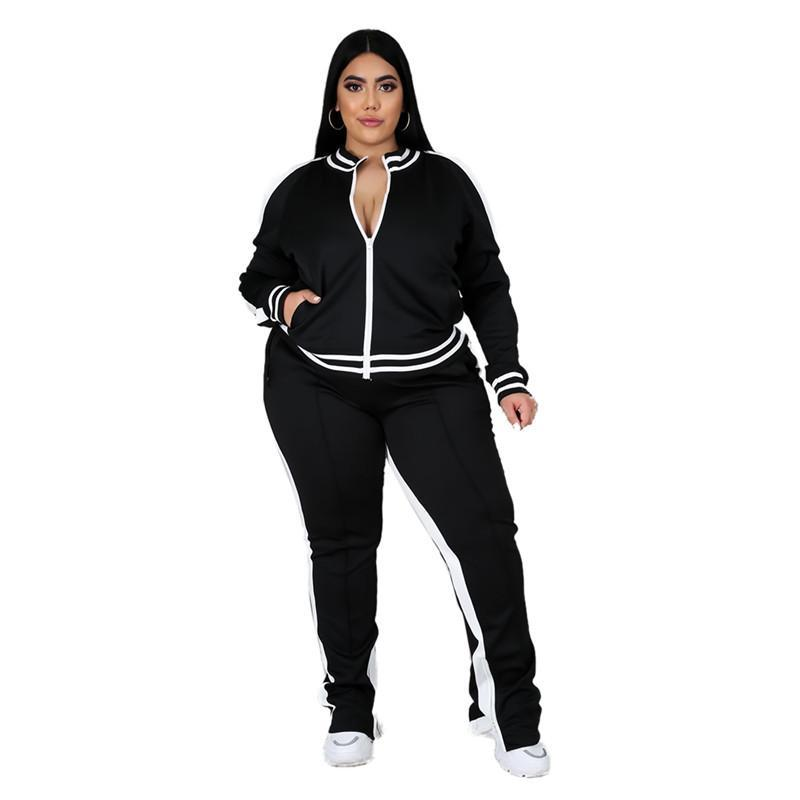 womens hoodie legging two piece set outfits long sleeve tracksuit jacket pants sportswear panelled outerwear tights sports set hot klw5046