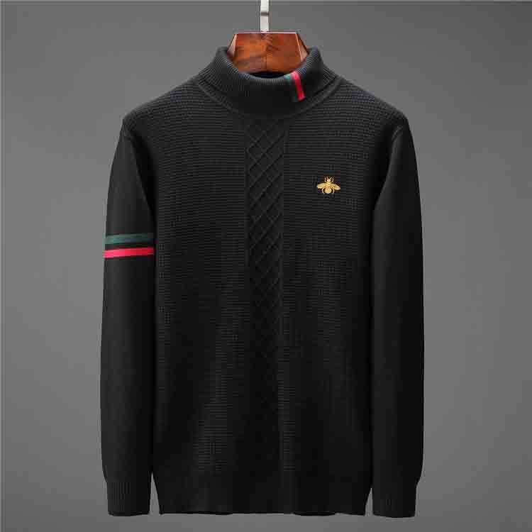 Winter Sweatshirt Fashion Pullover Men's Sweater Jacket Knitted Turtleneck Men's Sweater Men Solid Turtleneck Men's Turtleneck Sweater