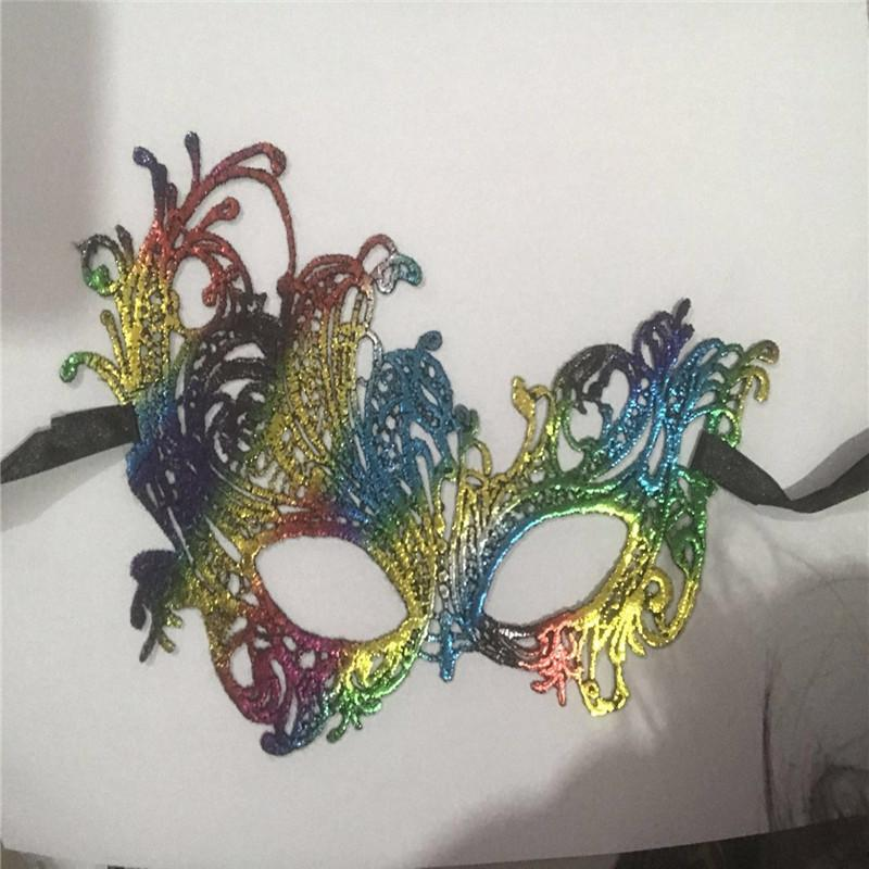 Colorful Halloween Party Masquerade Mask Fifty Shades Darker Rhinestone Lace Eye Dress Costume Funny Lace Masks 2015cm bbyVSM ladyshome