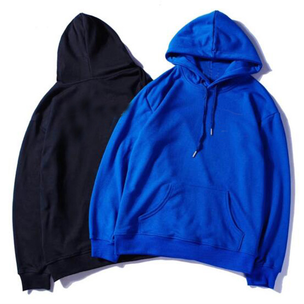 100% Cotton Mens Hoodies Women Hoodies Casual New Men's Hoodies Sweatshirts Men Sweatshirt 5 Color Blue Man Hoody Sweatshirts With Pockets