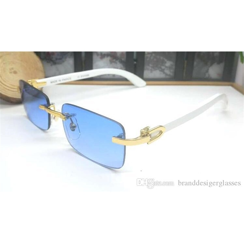 2019 Superior Suppliers Wholesale Rimless designer Sun glasses men classic GLASS Wooden sunglasses Buffalo Horn Sunglasses Frame