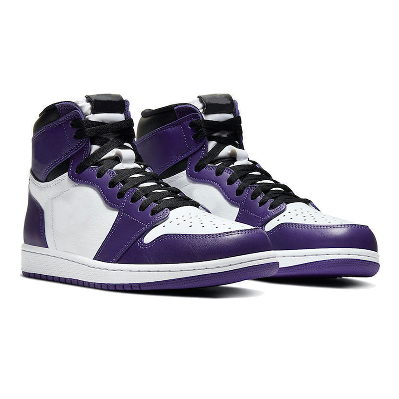 2021 New Arrival Basketball Shoes 1 1s Volt Gold High UNC Patent Obsidian Mens Womens Valentines Day Court Purple Trainers Sneakers 36-46