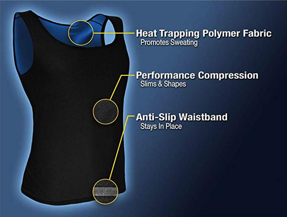 CXZD Sweat Shaper Vest for Men Women Slimming Belt Belly Slimming Vest Body Shaper Fat Burning Shaperwear Waist Traine Waist Sweat Corset (7)