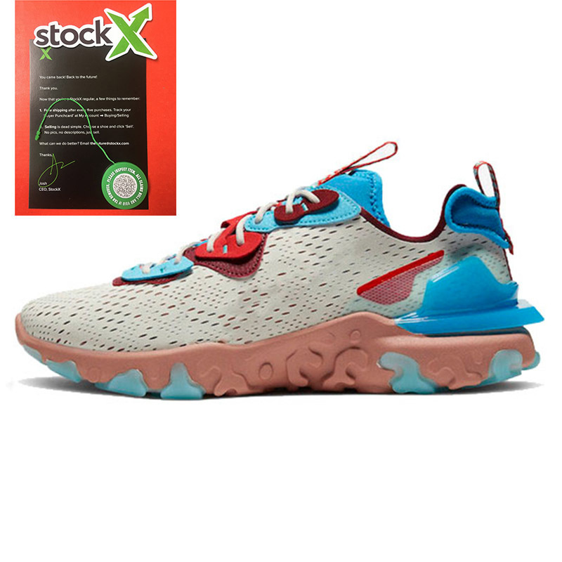 Top Quality 2020 EPIC React Vision Men Women Running Shoes Saffron Olt Racer Pink React Element 55 87 Royal Tint Metallic Trainers Sneakers