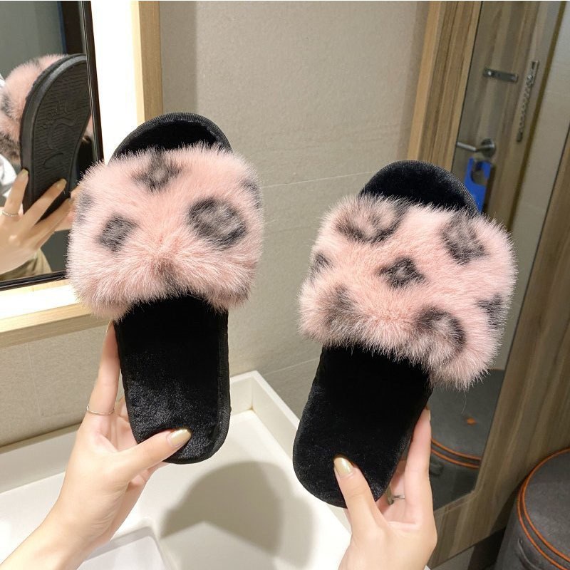 2020 Trend Women Shoes Winter New Women Slippers Ladies Soft-soled Non-slip Home Plush Slippers Outdoor Cute Furry Slippers X1020