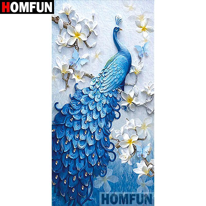Diamond Paintings cross Full 5D DIY Peacock Fan Princess Souvenir Embroidery Art