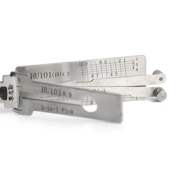 DANIU HU101 v.3 2 in 1 Car Door Lock Pick Decoder Unlock Tool