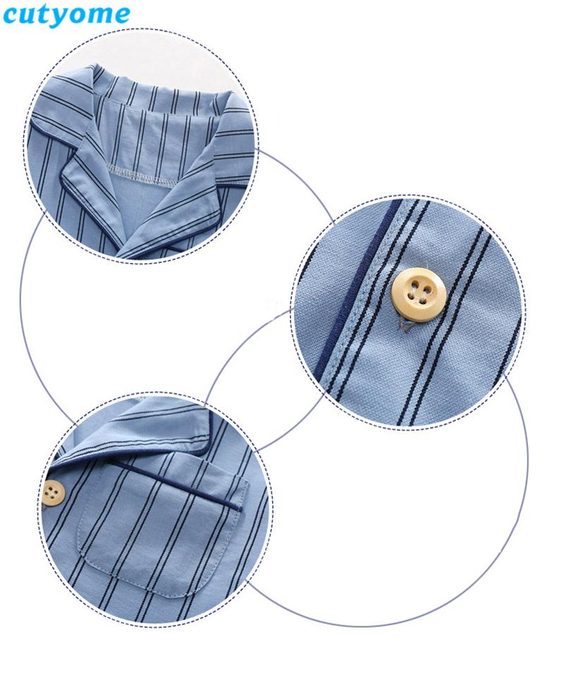 korean fashion toddler kids striped pajamas set05
