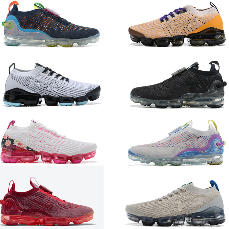 New 2020 Men Running Shoes Women Sneakers Cushion Trainers Dark Grey Summit White Pure Platinum Deep Royal Blue Designer Sports shoes 36-45