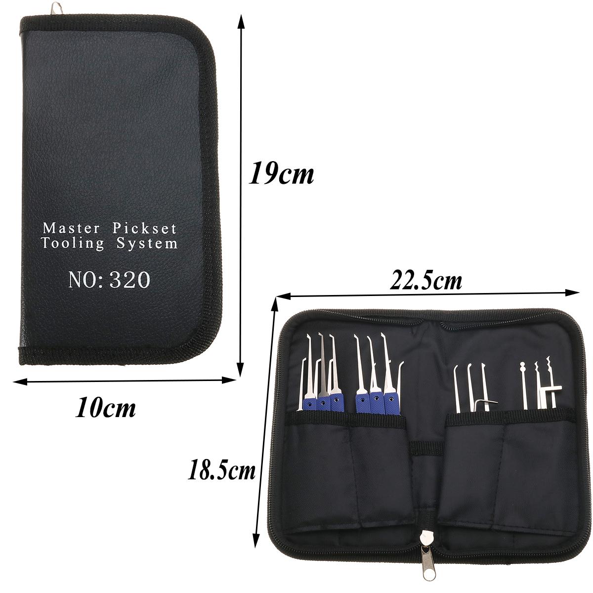 18 in 1 Stainless Steel Lock Pick Set Kit Locksmith Tools Quick Door Openner