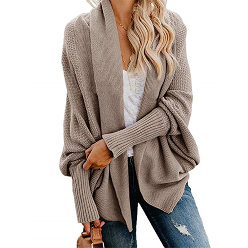 2019 winter new women sweaters casual plus size batwing sleeve kintted winter women cardigan ladies tops clothing coat (26)