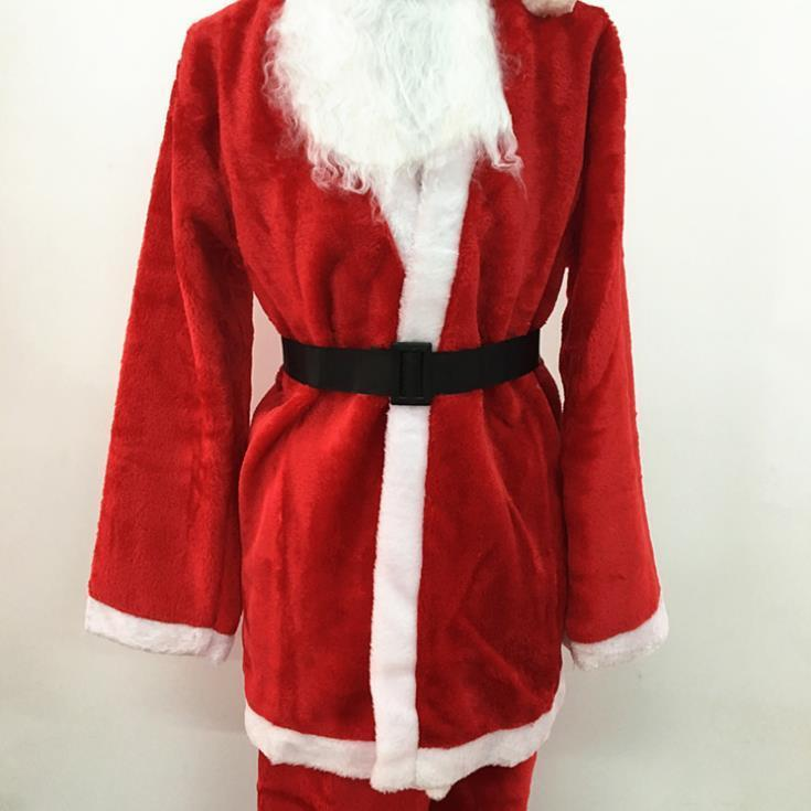 Hot Sale Meishen RFM Christmas Costume Adult Male Costume Five-Piece Padded Cosplay Santa Claus Costume Perform Christmas Decorations