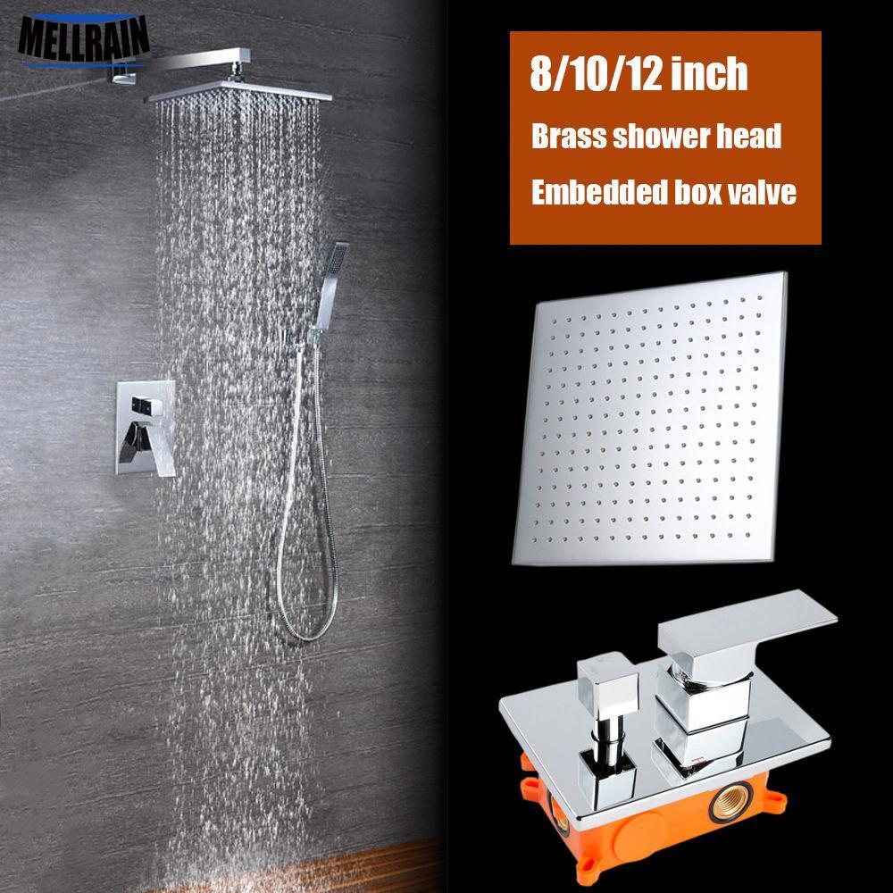 Everso 12//10//8//6//4 pulgadas Acero inoxidable ultrafino cascada ducha cabeza
