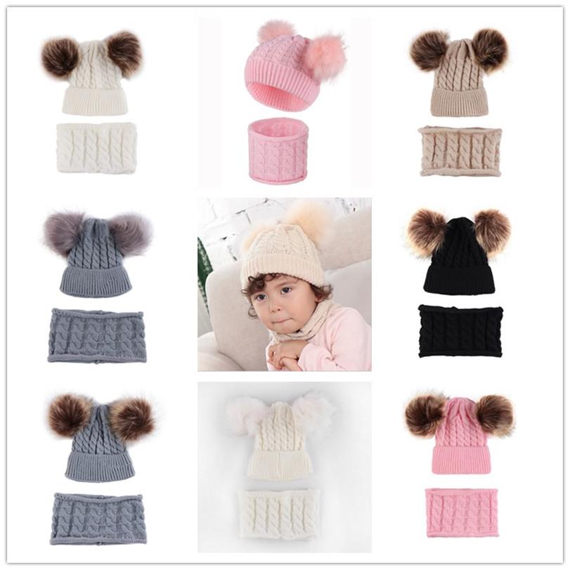 B.J Kids Baby Toddler Cable Knit Beanie Hat Children/'s Pom Pom Winter Warm Ski Hat Xmas Gift Ribbed Knit Pom Beanie Cap