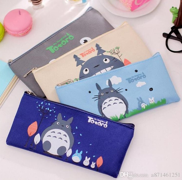 Big Capacity Pencil Pouch Oxford Cloth Portable Pencil Bag for Boy Girl Kid Adult Student School Office by HubHnb Blue Triangle Pencil Case