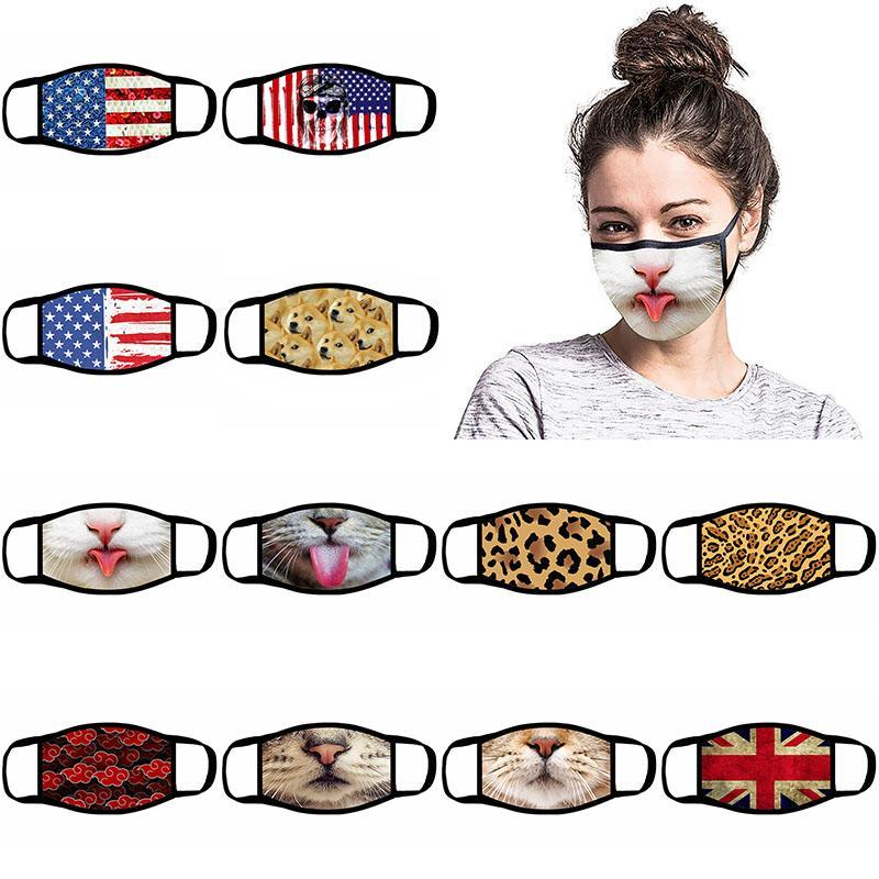 Fashion face mask Breathing Valve Anti Dust Face Mask Folding Without Valve Protective Dustproof PM2.5 designer face masks
