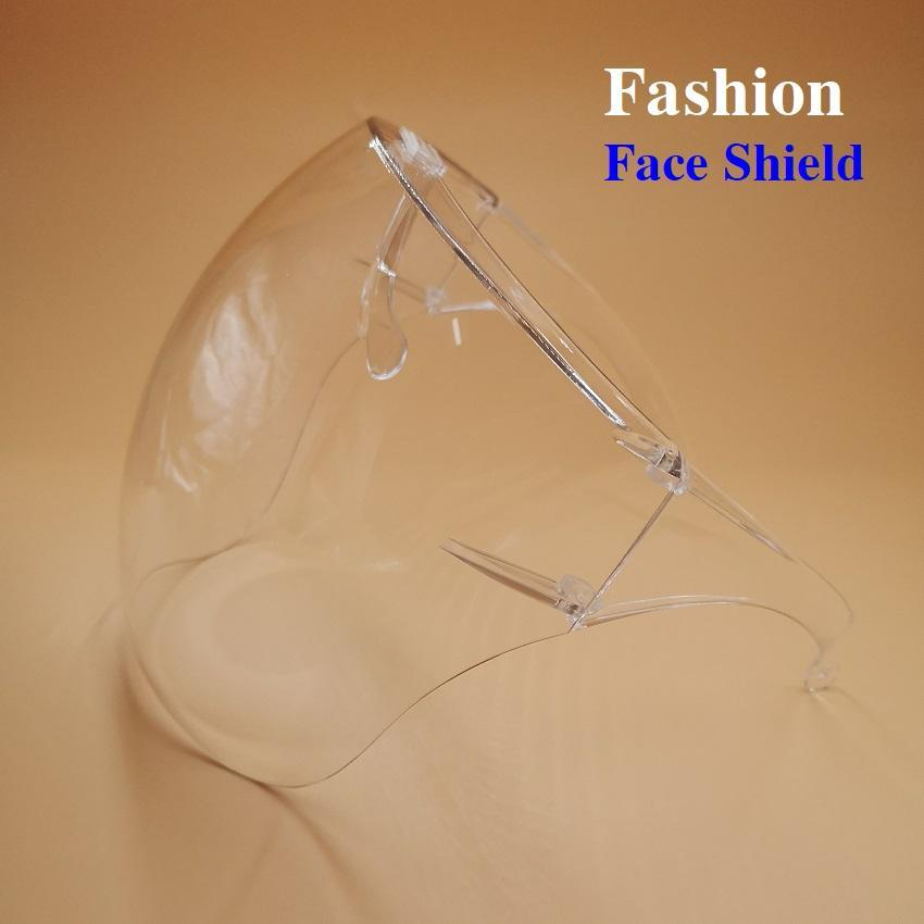 FedEx 1 Day Free Ship Face Shield Full Face Mask PET Protective Isolation Mask Shield Glasses Bracket Shield For Prevent Anti Droplets