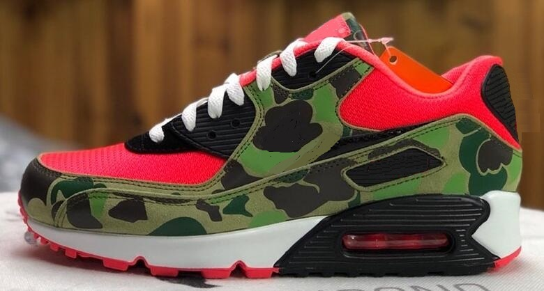 2020 New 90 Reverse Duck Camo 2020 atmos QS Essential 90 Men size With Box Wholesale 90 Camo