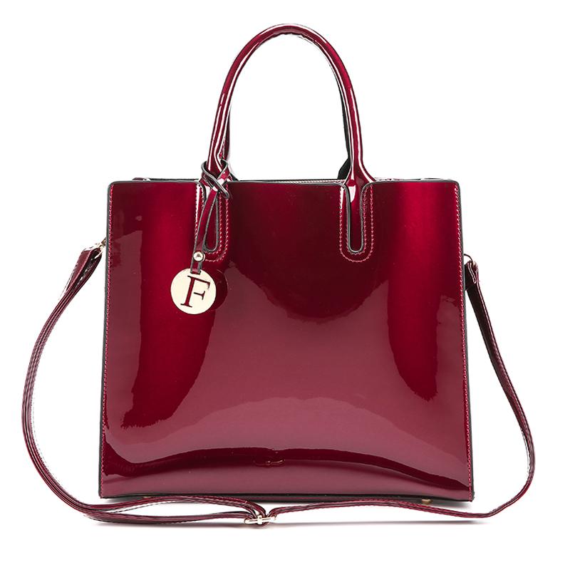Luxury Handbags Women Messenger Bags Designer Ladies PU Leather Shoulder Bag Bright Top-handle Casual Tote Crossbody Bag