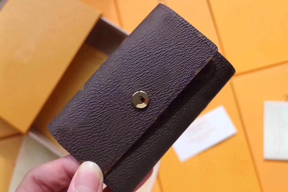 6 Key Holder Wallet Fashion Women's Card Holder Key Case Pouch Pocket Pochette Accessories N62630 M62630