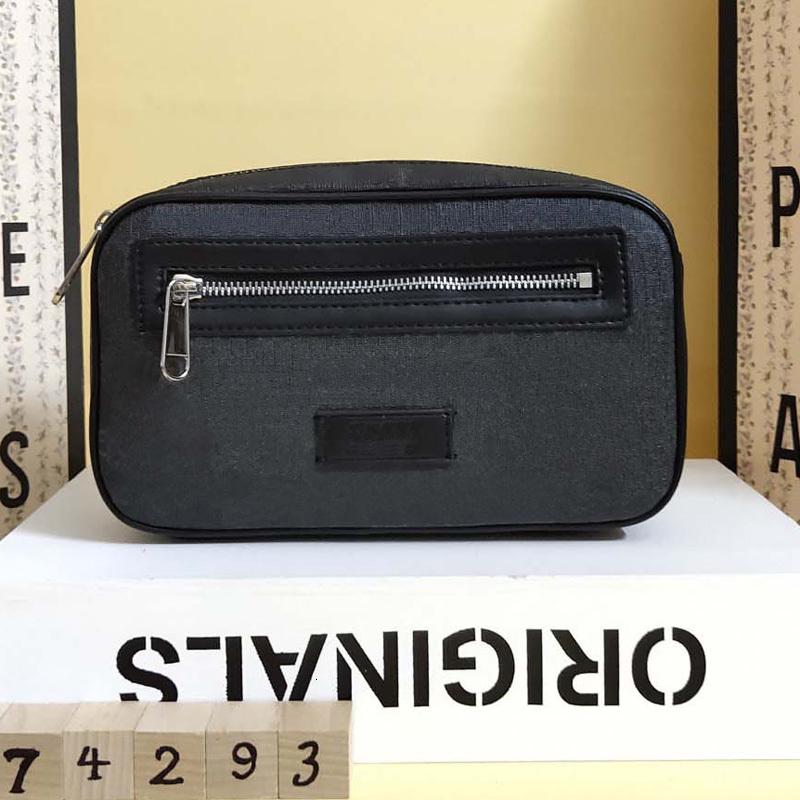 Hot Waist Bags men W24xH14xD5cm real Leather pvc Bags printed luxurys designers wait bags Waistpacks mens chest bag