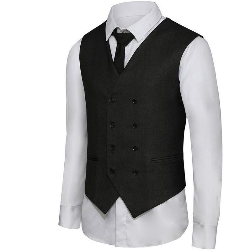 -suit-waistcoat-Men-s-Double-Breasted-Leisure-Business-Suit-Vest-Waistcoat-custom-Blue-grey-black
