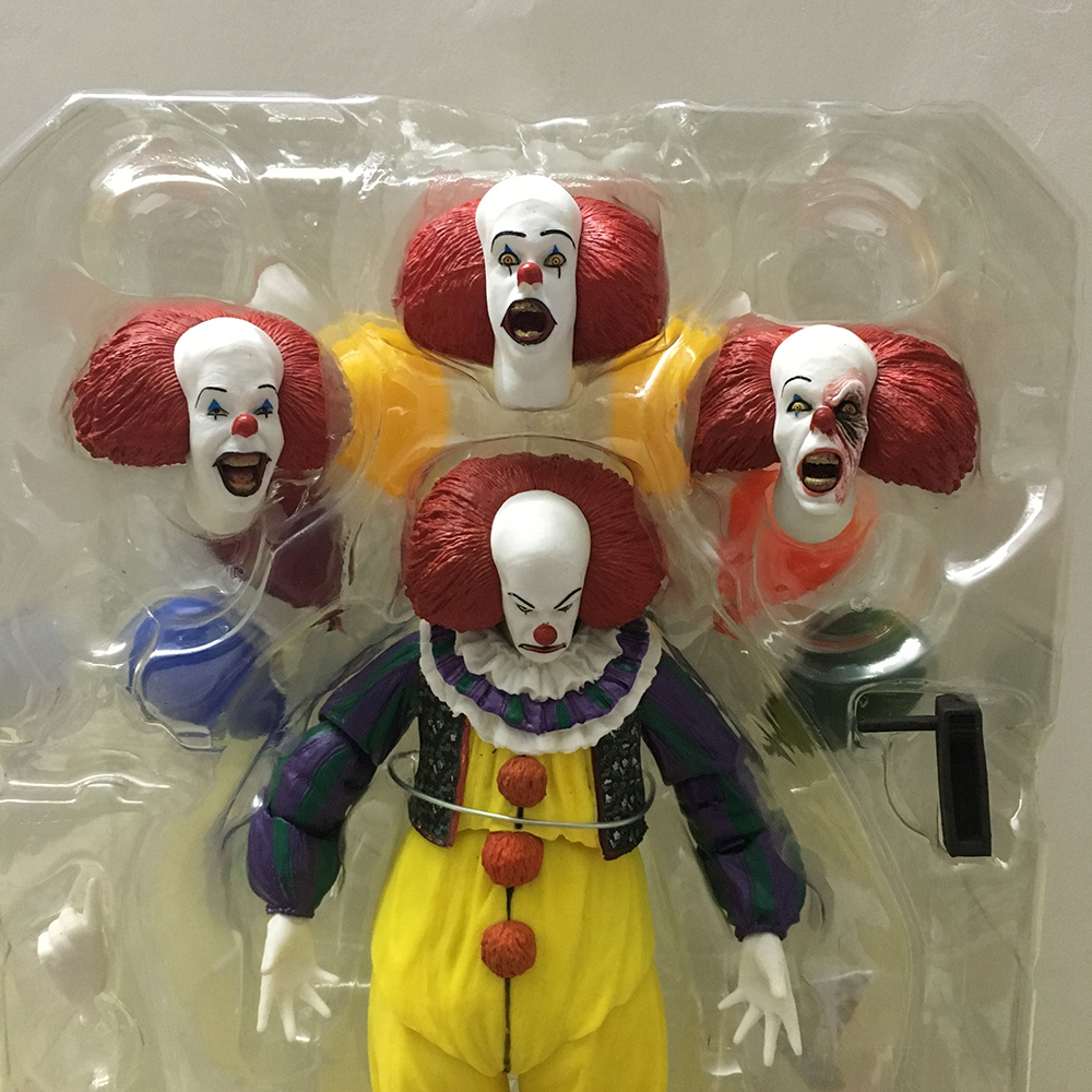 Horror Movie It Character NECA Joker With Balloons Pennywise Action Figure Model Toy for Christmas Halloween Gifts (00001)