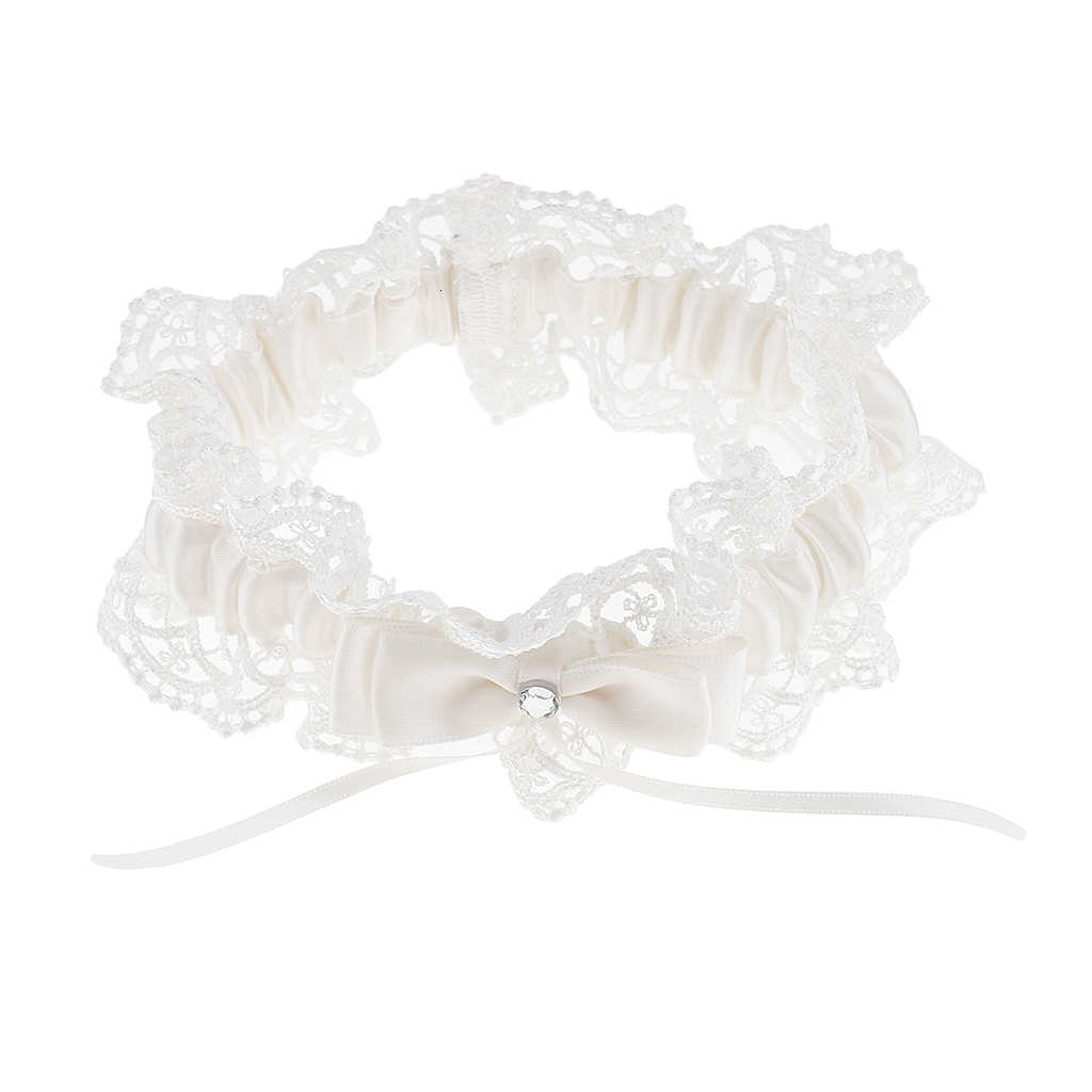 Elegant Lace Crystal Bride Garter Bowknot Wedding Women Garter Keepsake Gift