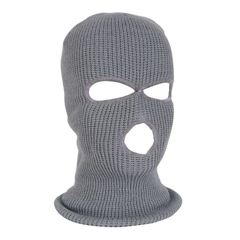 Full Face Mask Ski Mask Winter facemask Cap Balaclava Hood Army Tactical Mask 3 Hole cycling winter mask #4n26 (3)