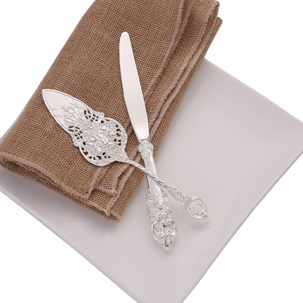 silver cake shovel set (6)