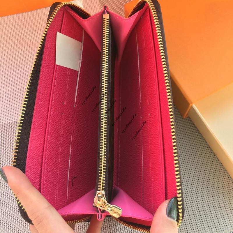2020 Wholesale Flower symmetrical wallet Fashion Genuine leather wallet purses Women Purse mens wallet portafoglio uomo 60742