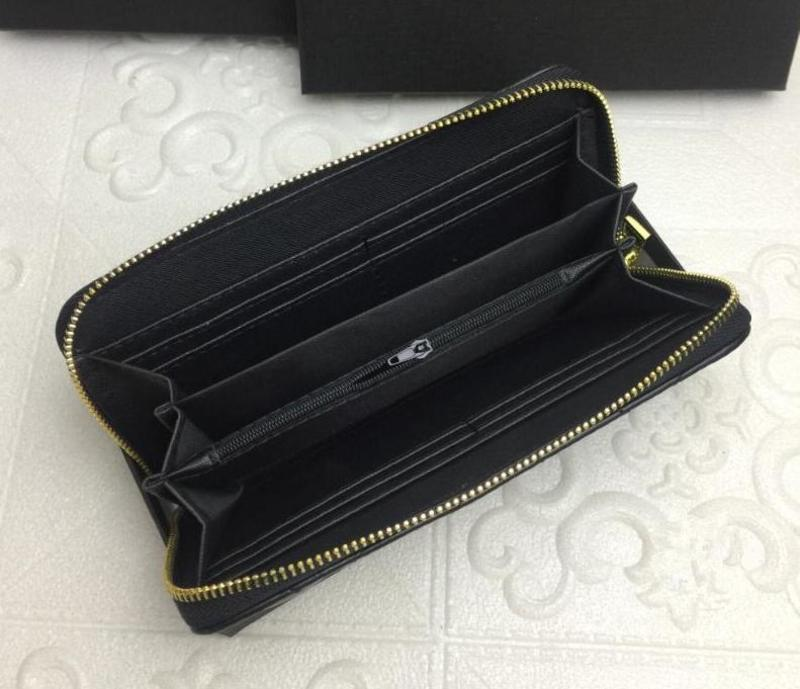 2020 Wholesale lady long wallet multicolor coin purse Card holder original women classic zipper pocke