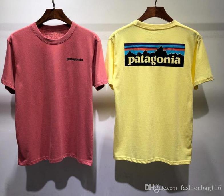 Summer t shirt short Sleeve Tee Men Women Lovers Fashion men women T-shirts patagonia