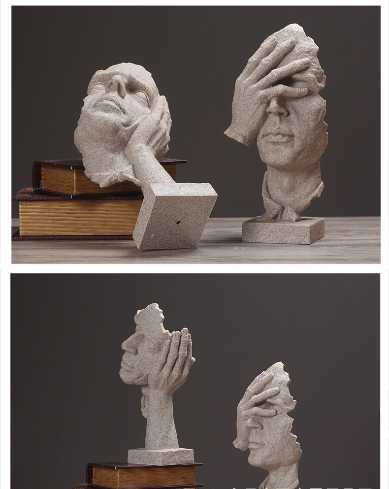 Resin Silence Figurines (3)